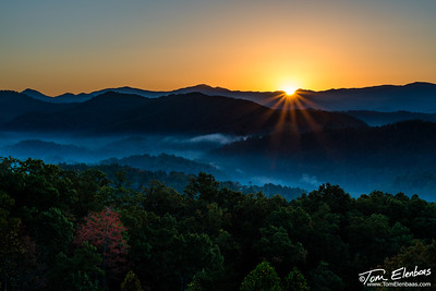 Sunrise at Foothills Parkway West, Great Smoky Mountains N.P.