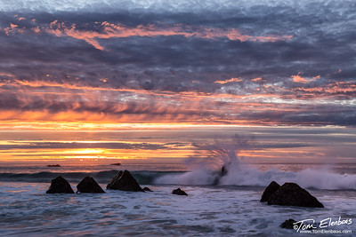 Sunset at Garapata  Beach on the Big Sur Coast