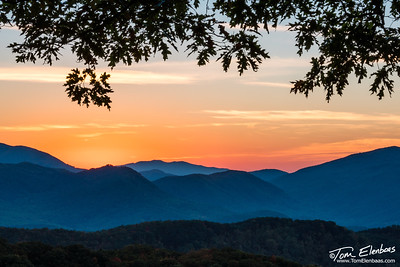 Sunset on the Roaring Fork Motor Trail, Great Smoky Mountains N.P.