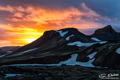 Sunrise Over Fjallabak Nature Reserve, Iceland