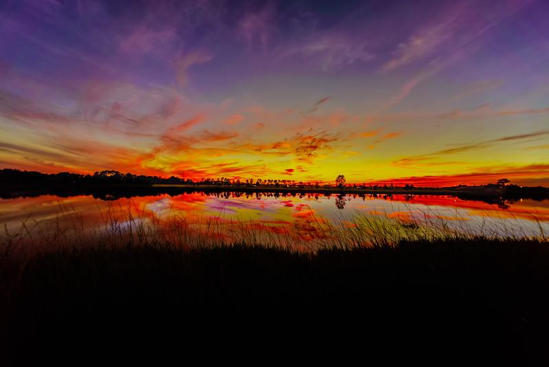 Reflecting Sky Fire