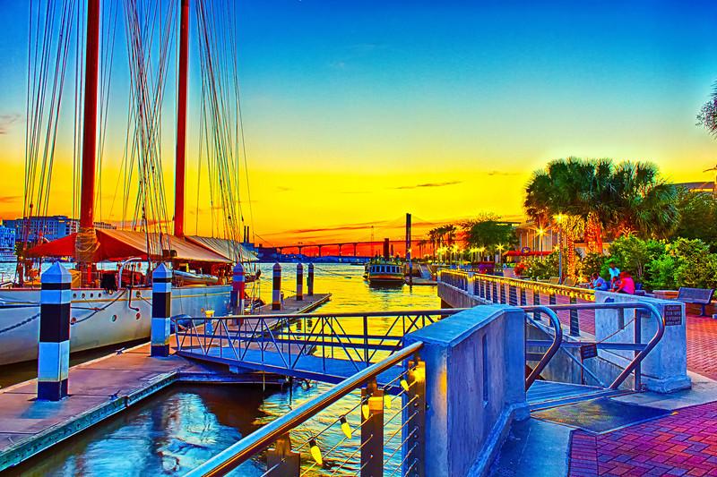 Yacht Dock Sunset