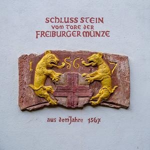 Schlussstein Freiburger Münze