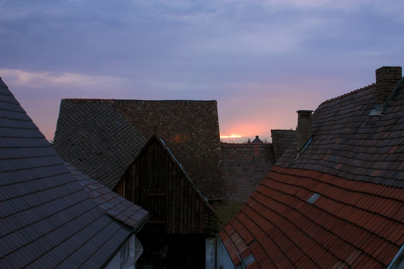 German Rooftop Sunset