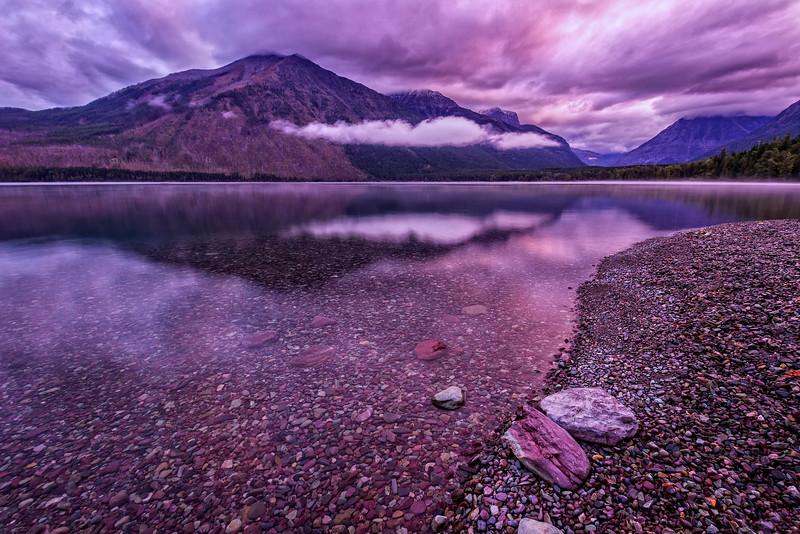 Sunrise over Lake McDonald (Glacier National Park)