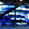 """Panes of Blue""<br /> Palais des congrès <br /> © Copyright Ken Welsh"