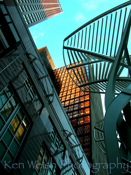 """""""Steel Canyon""""<br /> <br /> Calgary<br /> © Copyright Ken Welsh"""