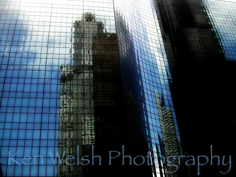 """Windy City Reflections""<br /> <br /> © Copyright Ken Welsh"