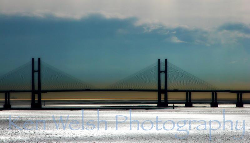 """""""Severn Bridge""""<br /> <br />  © Copyright Ken Welsh"""