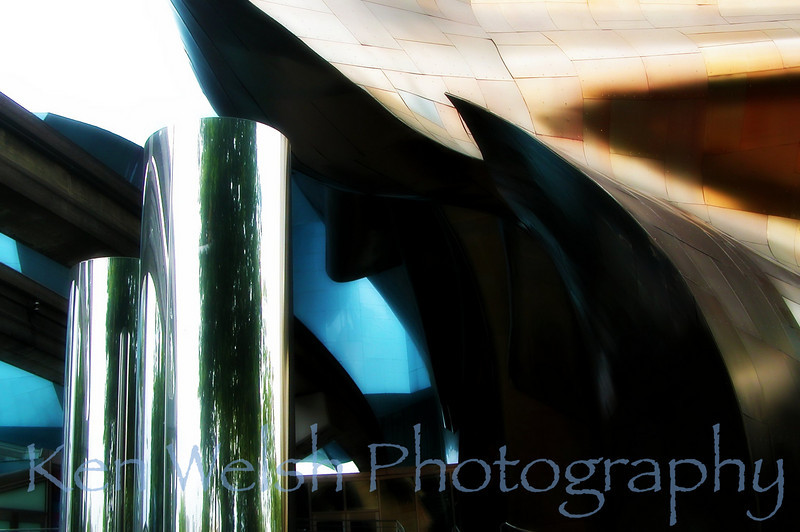 """In the Shadow of Gehry""<br /> <br /> Seattle <br /> © Copyright Ken Welsh edit"