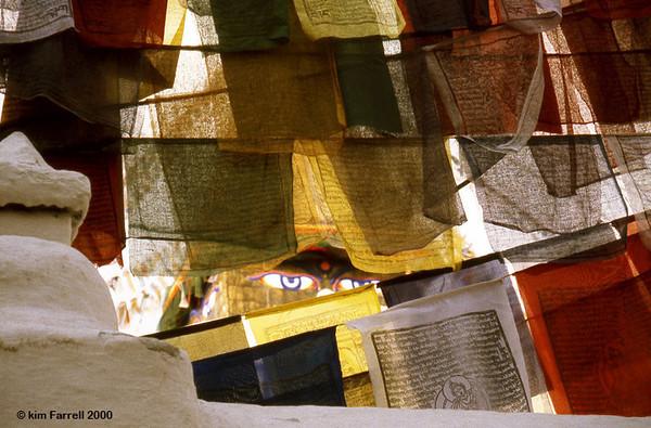 Bodanath prayer flags, Nepal.