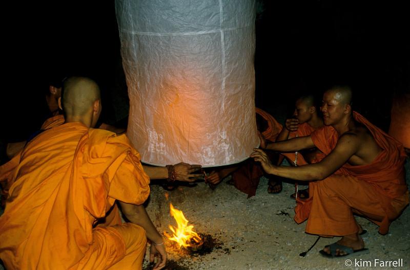 Lao Kratong festival, Chiang Mai, Thailand.