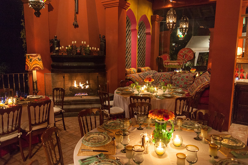 Dinner with Gloria Steinhem, Hyder House, San Miguel de Allende, Mexico