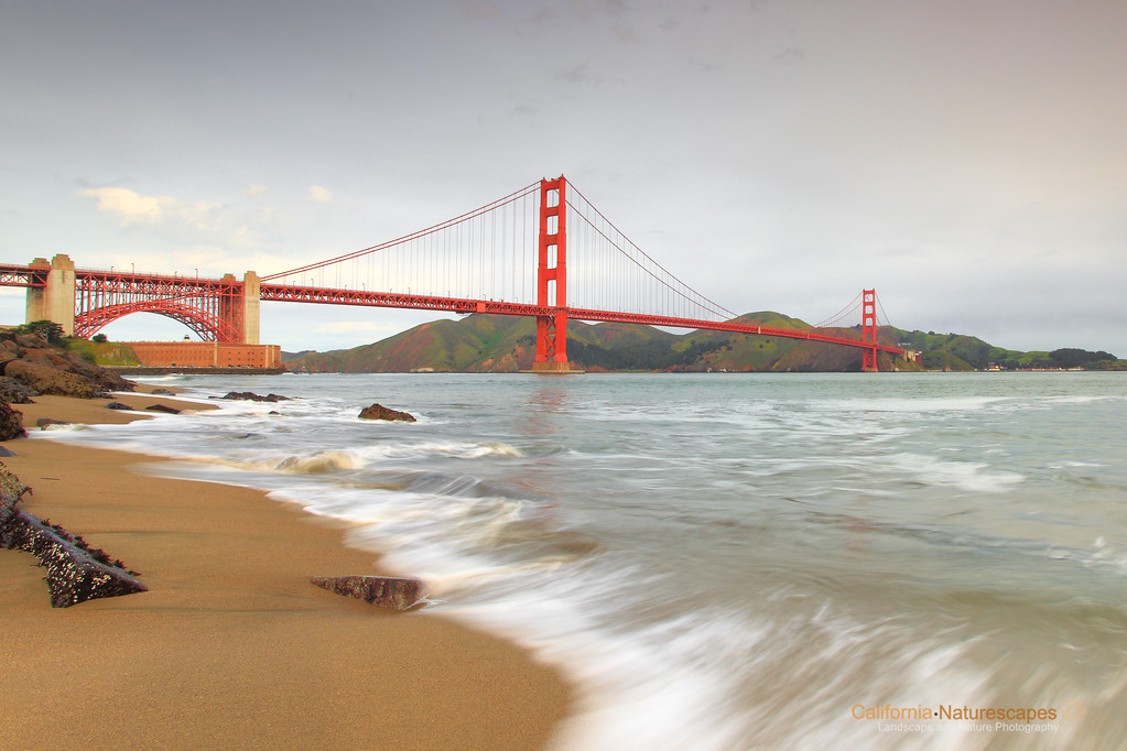 """Golden Gate Bridge"" <br>Location: Crissy Field, San Francisco, California."