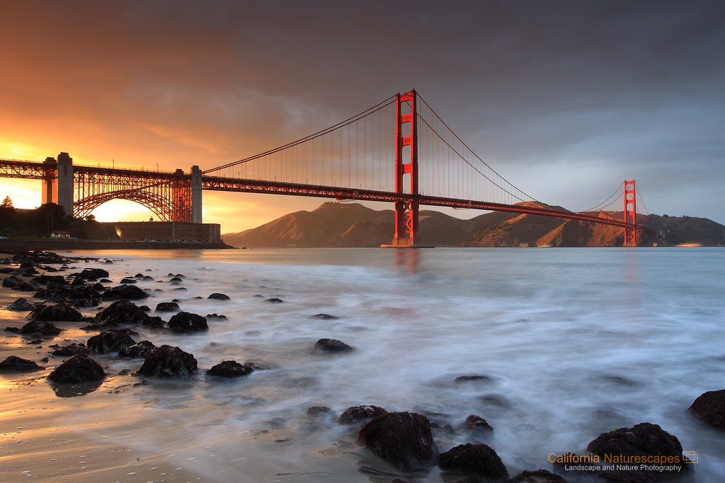 Winter Sunset on Golden Gate