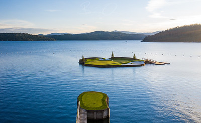 Coeur d'Alene Resort Course - The Floating Green