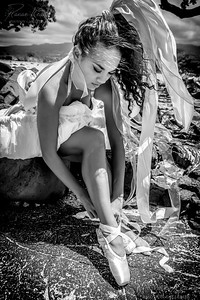 Ballerina Tying Pointe Shoes ©2017 Ranae Keane-Bamsey Photography www.EMotionGalleries.com