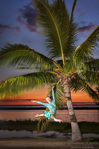 Grande Jete at Sunset by the Fish Ponds ©2016 Ranae Keane-Bamsey