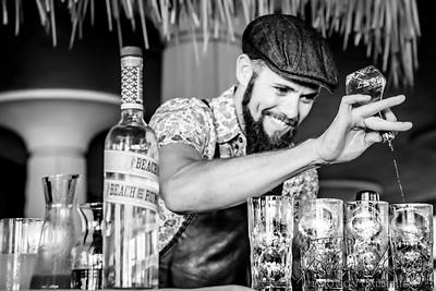 Bartender Behind the Bar Making Drinks ©2016 Ranae Keane-Bamsey