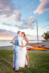 Hawaiin Seaside Wedding Mauna Lani Bay Hotel & Bungalows Canoe ©2017 Ranae Keane-Bamsey Photography www.EMotionGalleries.com