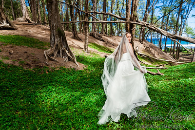 Forest Wedding Run Away Bride ©2017 Ranae Keane-Bamsey Photography www.EMotionGalleries.com