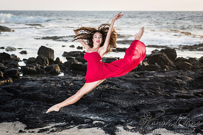 Red Dancer Leaping in a Lava Field ©2016 Ranae Keane-Bamsey