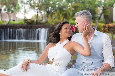 Las Vegas Pop Singer and Dancers Elope Infront of a Waterfall ©2017 Ranae Keane-Bamsey Photography www.EMotionGalleries.com