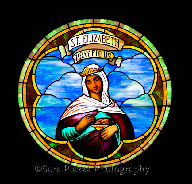 St. Elizabeth of Portugal, the patron saint of St. Elizabeth's Church.