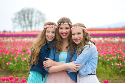 Dance Sisters in the Tulips