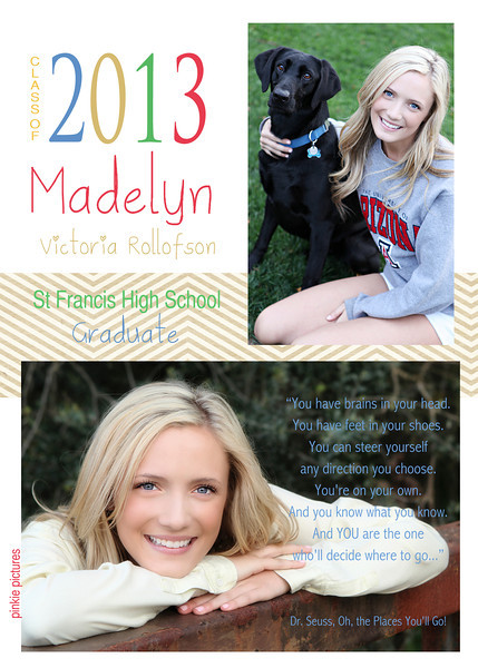 Madelyn Party invite BACK - 5x7 double sided