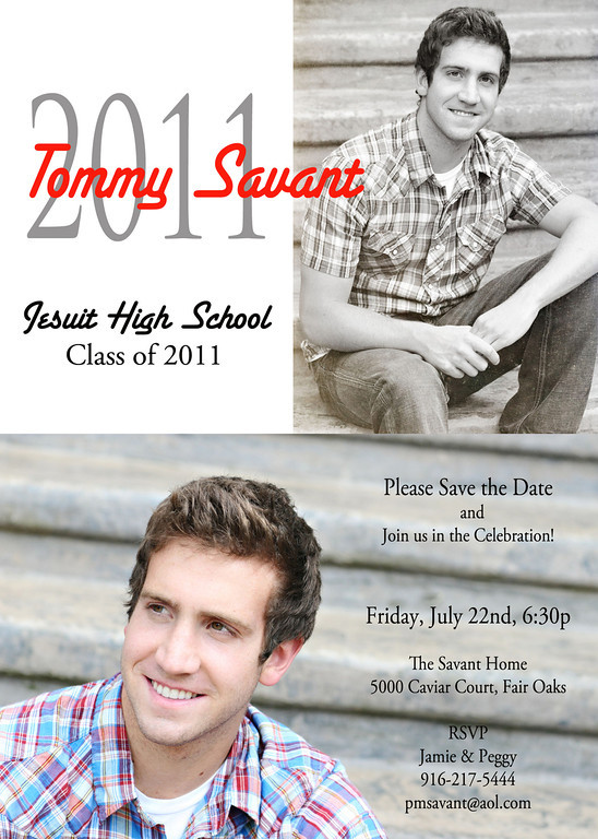 The Duo Grad Party Invitation -  works best with 1 horizontal and 1 vertical image, add you personalized text.