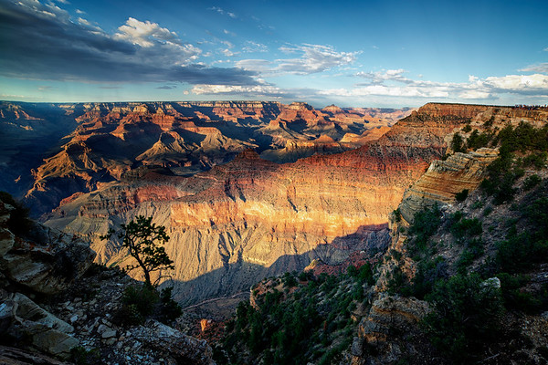 Lighted Grand Canyon Wall
