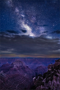 Angel's View, Milky Way from Angel's Window, Grand Canyon
