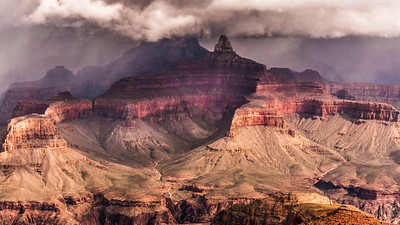 Storm Over Brahma and Zoroaster Temples, Grand Canyon