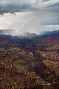 Diagonal Lightning, Lipan Point, Grand Canyon
