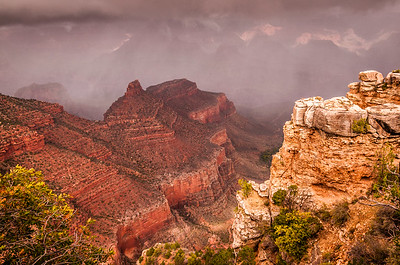 Storm Clouds Over the Grand Canyon