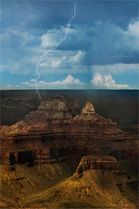 Lightning Bolt, Zoroaster Temple and Brahma Temple, Grand Canyon