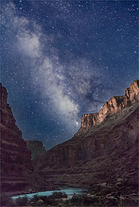 River of Light, Milky Way and Colorado River, Grand Canyon