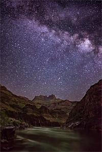 Starry Night, Colorado River and Evans Butte, Grand Canyon