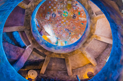 Inside the Watchtower at Desert View