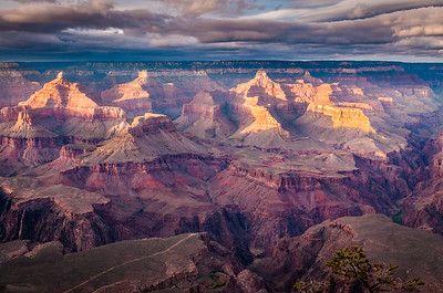 Isis Temple (L) and Buddah Temple (R), Grand Canyon
