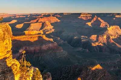 Looking West from Yavapai Point at Sunrise