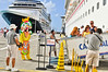 Our Carnival Cruise Ship was the perfect bounce-board with it's large white hull.<br /> Saint-Martin Cruise ship Port