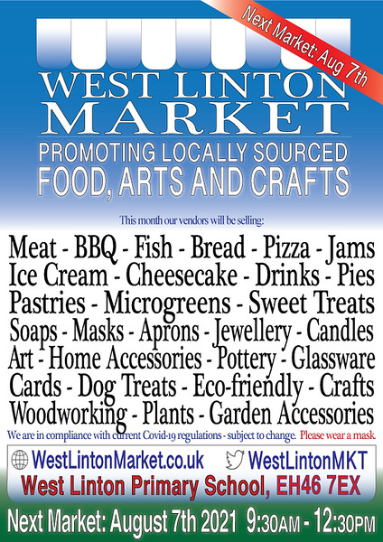 Example of a market poster  (design used since 2019)