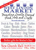 Example of the first West Linton Market poster.
