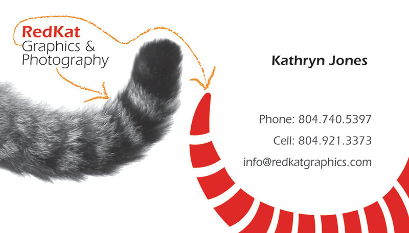 2009 RedKat Graphics & Photography business card