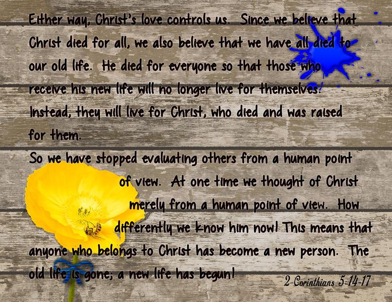 2 Corinth 5 14-17