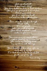 Psalm 23 wood