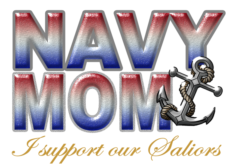 navy mom with anchor RED WHITE AND BLUE