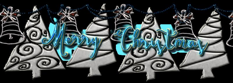 christmas blue decor